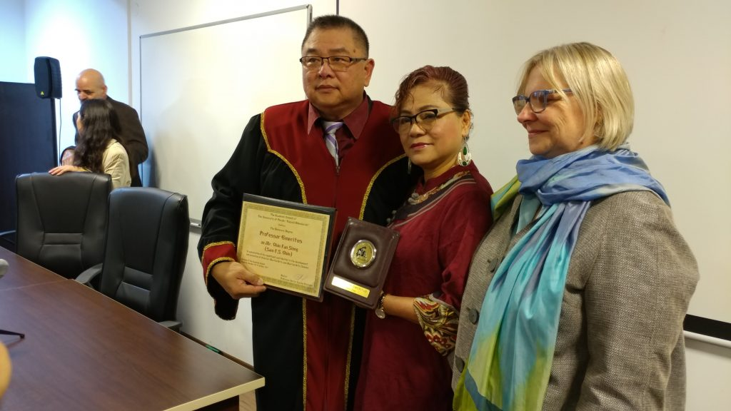 GM Sam Chin and wife Simu Kooi Lin in Plovdiv