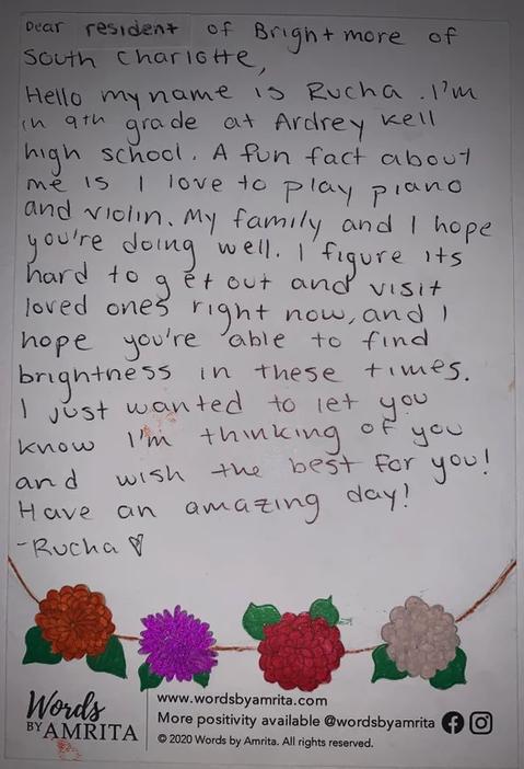 image of handwritten cards