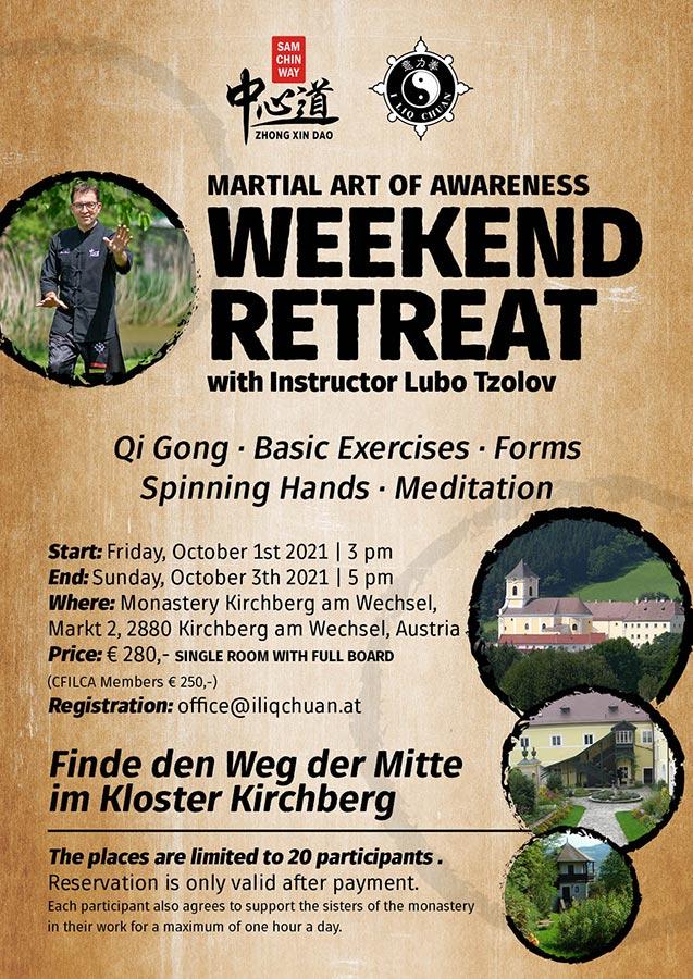 English language weekend retreat poster