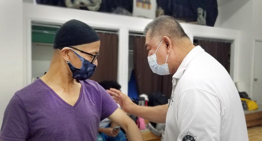 Prof. Kung Yang Lin with Prof. Grandmaster Sam Chin